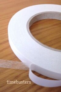 6mm x 50 Metres Roll Thin Sticky Semi Clear Double Sided Tape Craft, Card Making