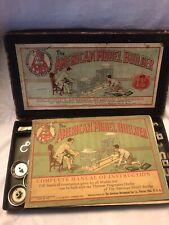 Vintage 1913 American Model Builder No. 1 1/2 Partial Set W/ Instruction Book