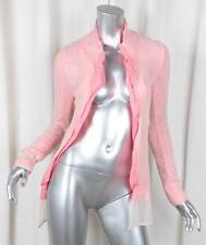 COMME DES GARCONS Womens Pink Linen+Cream Nylon Lightweight Blazer Jacket S NEW