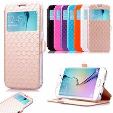 Étui Portefeuille Avec Fenêtre Pochette Housse Protection Pour Samsung iPhone