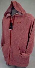 New Mens 2XL XXL NIKE Dri Fit Stay Warm Red Zip Hoody Jacket $75 588639-652
