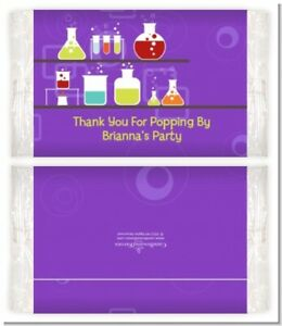 Science Lab - Custom Birthday Party Popcorn Wrappers - Set of 12