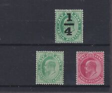 India Kevii Sg 148/150 Mounted Mint