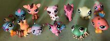 Littlest Pet Shop Lot of 13 Dog, Giraffe, Birds, Butterfly, Hamster, Anteater