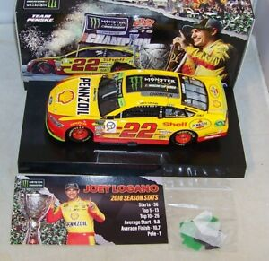 1:24 ACTION 2018 #22 SHELL PENNZOIL MONSTER ENERGY CUP CHAMPION JOEY LOGANO NIB