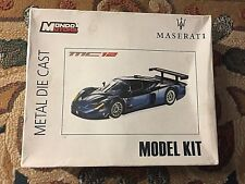 MONDO MOTORS Maserati mc 12 model kit METAL DIE CAST 1:24 vintage rare