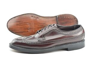 NEW OLD STOCK | FLORSHEIM 11D #8 SHELL CORDOVAN V CLEAT DRESS SHOES 97626