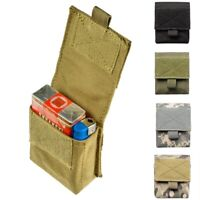 Military Molle Pouch Tactical Single Pistol Magazine Pouch Hunting Ammo Camo Bag