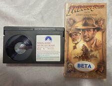 Beta Max Tape Video Movie 1989 Indiana Jones & the Last Crusade Untested