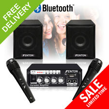 Bedroom Karaoke Speakers and Amplifier Bluetooth Wired Mics Home Hifi Audio Kit