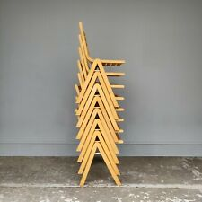 Slatted Beech Stacking Chairs - Cafe Bar Restaurant - 24 Available