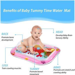 Baby Splashing Playmat Tummy Time Water Mat Inflatable *MORE PATTERNS*