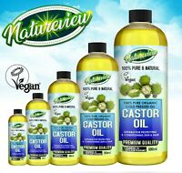 Nature View 100% Cold Pressed Pure Castor Oil for Hair, Skin, Nails, Body , Face