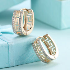 18k Gold Plated Circel Huggie Earrings Made With Swarovski Crystals