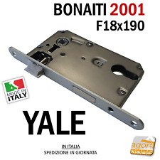SERRATURA PORTA YALE FRONTALE 18x190mm BONAITI 2001 290 METALLO CROMO OP E50 I90