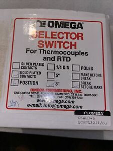 NEW OMEGA OSWG3-6 SELECTOR SWITCH FOR THERMOCOUPLE AND RTD GOLD PLATED
