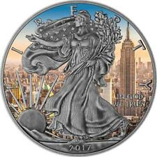 USA 2017 1$ American Eagle 1oz Antique Empire State Building Silver .9999 Coin