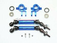 GPM Racing Traxxas Slash Rustler 4X4 Blue Front CVD W Knuckle Set SSLA1280FH21-B