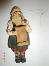 June McKenna Collectibles Old Fashioned Santa Christmas Tree Ornament Flat Back