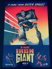 1999 Original The Iron Giant Rolled Advance (Aug 6) US One Sheet Movie Poster