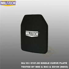 MILITECH Alumina NIJ III+ Level 3+ 10X12 Shooters Cut Ballistic Hard Armor Panel