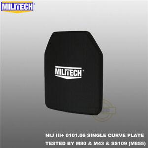 MILITECH Alumina NIJ III+ Level 3+ 10X12 Shooters Cut Ballistic Hard Armor Panel