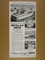 1960 Chris-Craft Cavalier Custom Cruiser yacht boat photo vintage print Ad