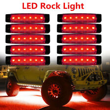 """10X 3.8"""" Red LED Rock Light For Jeep ATV Off road Underbody Lights Surface Mount"""
