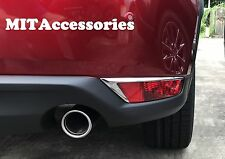 MIT for MAZDA CX-5 2017-ON 2nd Gen Rear bumper Fog light lamp chrome cover trim