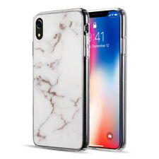 Apple iPhone XR Xs Max Hybrid Rubber Silicone Soft TPU Case Cover Marble Pattern