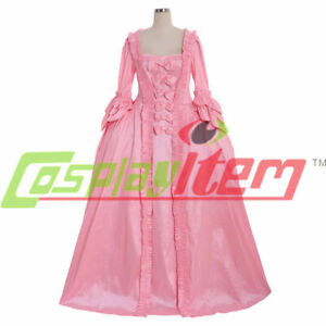 18th Century Marie Antoinette Colonial pink gown Dress Costume sack back gown
