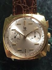 RARE LIP GENÈVE MONTRE VINTAGE CHRONOGRAPHE WATCH (BREITLING TOP TIME)