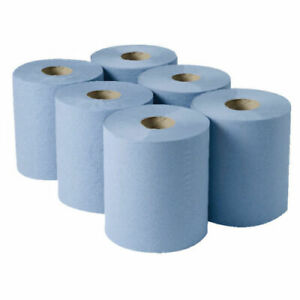 Work Centrefeed Roll  3-Ply Blue 120meter x200mm Strong (Pack of 6) Hand Towels