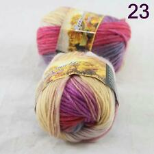 Sale Lot of 2 Skeins New Knitting Yarn Chunky Colorful Hand Wool Wrap Scarves 23