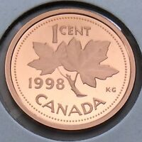 1998 Proof Canada 1 One Cent Penny Canadian Uncirculated Coin G365