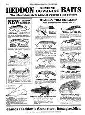 Heddon Baits -  Lures  -   Hobart Tackle Box -  Fishing  -  1929