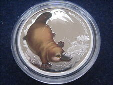 "MDS australia 50 centavos 2013 pp/proof ""Australian Platypus"", plata"