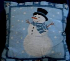 Super Cute 100% Polyester Poly Fill Frosty Snowman Decorative Pillow - BRAND NEW