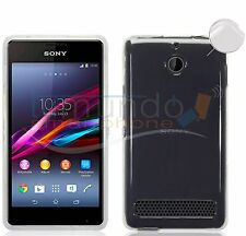 "FUNDA de GEL TPU FINA ""ULTRA-THIN"" 0,3mm TRANSPARENTE para SONY XPERIA E1 case"
