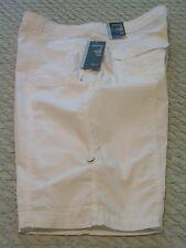 Womens Style & Co. White Cotton/Spandex Convertible Leg Shorts, 16, NWT