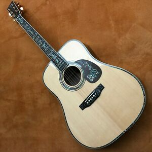 2020 new D45 spruce face single rosewood side back material pearl abalone inlaid