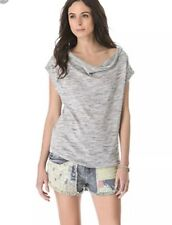 Joie Soft Size XS Cap Sleeve Cowl Neck Top Gray Career -E