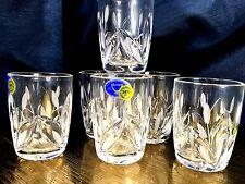 Crystal Shot Glass Vodka Whisky 1.7 oz Set of 6 NEMAN Stemless Russian  Cut
