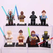 8pcs Star Wars Slave Leia Luke skywalker AHSOKA YANO MINIFIGURE CUSTOM Lego