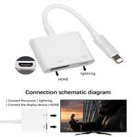 Lightning To HDMI Adapter Cable Digital AV TV For iPhone6 7 8 Plus X XS XR Ipad