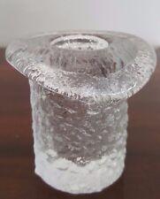 Vintage Pukeberg Sweden Glass Candle Holder