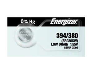 Energizer Silver Oxide Button Cell Battery 1.55V 394, 380, SR936SW
