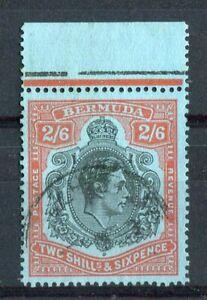 Bermuda KGVI 1938-53 2s6d black & red p13 SG117d CW22a used