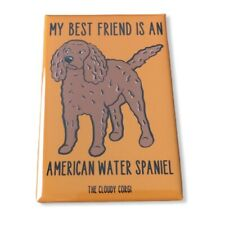 American Water Spaniel Dog Magnet Best Friend Cartoon Art Gifts and Home Decor