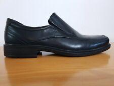Ecco Helsinki Bicycle Toe Slip On Black Leather Men's Shoes - Eu 46 - New